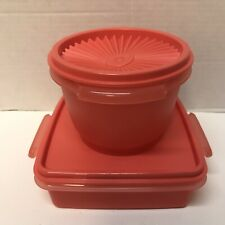 Tupperware Set of 2 container Square and small servalier FREE SHIPPING