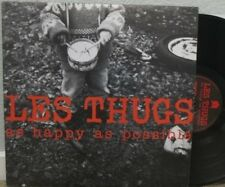LES THUGS-As happy as possible            Rare 2 LP       French Indy Rock