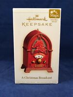 A Christmas Broadcast 2006 Hallmark Magic Music Light Ornament Santa Radio Song