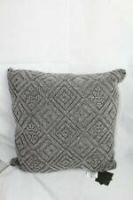 "Lacourte Home Cleon Handwoven Geometric 22"" Square Decorative Bed Pillow Cotton"
