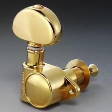 NEW - Schaller M6 Vintage Tuners, 3x3 Tuning Keys 16:1 3L+3R - GOLD