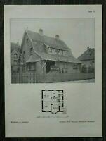 GFA) Blatt Wohnhaus Bensheim 1926 Architektur Prof Heinrich Metzendorf Architekt