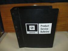 Gm Vintage Original Expandable 3 Ring Format Empty Binder For Service Bulletins