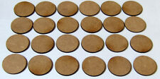 2mm MDF 25mm round bases pack of 24 suitable for Bolt Action and other games