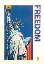 Hiro Yamagata - FREEDOM - Serigraph - poster - Statue of Liberty