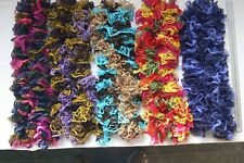 SCARVES Hand Knitted Frilly Soft FLAMENCO 4 with Glitz - 5 Mixed Colour Choice