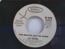 """CLIFF RICHARD """"THE MINUTE YOU'RE GONE / AGAIN"""" 45 PROMO"""