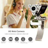 1080P Full HD USB Webcam with Microphone Live Class Conference For PC Laptop ~