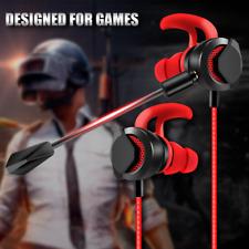 AGPTEK In-Ear Gaming Headphones with Dual Mic Wired Earbuds Gaming Earphones Red