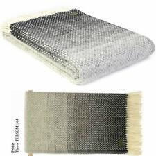 Tweedmill Textiles BRITISH 100% Wool Sofa Bed Throw Blanket OMBRE OMBRÉ PEBBLE