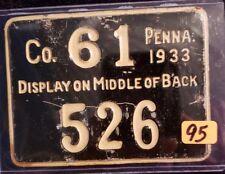 Vintage PA Hunting License