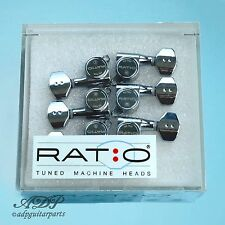 Mécaniques GraphTech 6x RATIO 12:1to 39:1 6L Chrome TUNERS PRN-4721-C0