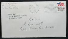 Inmate mail us COVER carcerarie Center Atlanta Patriotic 29c STAMP LETTERA (h-6381