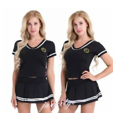 Women Sexy Lingerie Cheerleader Uniform School Girl Outfit Fancy Dress Costume