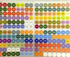 New doTERRA Essential Oils Bottle Cap Label Stickers color coded