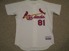 De La Cruz size 46 #81 St. Louis Cardinals Game Used jersey issued home white