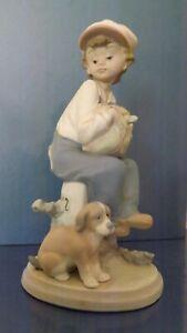 "Vintage LLADRO  "" My Best Friend "" Boy With Puppy - Superb Porcelain Figure 5401"