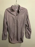 Peter Millar Mens Button Down Shirt Long Sleeve Size S Heavy Cotton Plaid