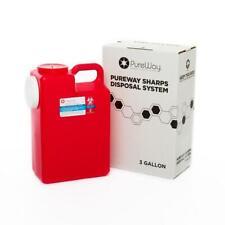 Pureway Sharps 3 Gallon Disposal System, Single with Shipping Box & Return