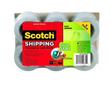 """New listing Scotch Sure Start Packaging Tape Refill Rolls, 6-Rolls, 1.5"""" Core, 1.88 Inches x"""