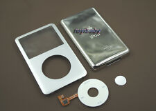 silver front back case housing cover white clickwheel for ipod 6th classic 80gb