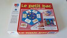 """(3) JEU DE SOCIETE """" LE PETIT BAC """"  LA COURSE AUX NOMS MB 1996 COMPLET TBE"""