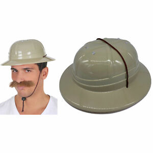 Safari Hard Hemet HAT African Hunter Jungle Pith Indiana Jones Costume Accessory