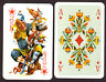 Salon Karte #66  playing cards (maedieval courts) Coeur, East Germany 1968