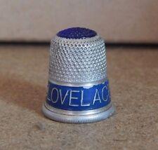 Vintage 1920-30's Aluminium Advertising Sewing Thimble - Dr Lovelace'S Soap
