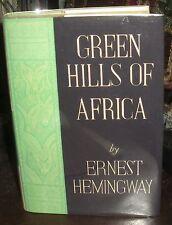 Ernest Hemingway Green Hills Of Africa 1935 HC DJ 1st edition first printing