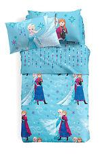 Set Lenzuola Principesse Frozen Elsa Azzurro Una Piazza e Mezza Disney Caleffi