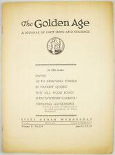 Golden Age Magazine #254 June 12, 1929 In Darkest Quebec Watchtower Jehovah