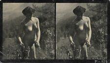 Vue stereoscopique NU stereoview NUDE Photo Femme Jeune nue Erotisme 1920 P 974