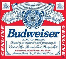 "Budweiser Beer Drink Bumper Sticker 5"" x 4"""