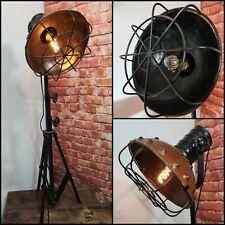 Stehlampe Metall Leder Industrie  Loft Berlin Bodenstehlampe höhenverstellbar 02