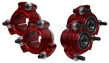 "Set of 4 Red Front & 1.25"" Rear Wheel Hubs Racing Go Kart Cart Stool Midget"