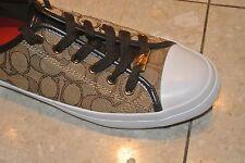 New Coach Empire Khaki Chesnut Fashion Sneakers Shoes Size 10