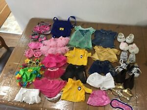 selection of Build a Bear workshop clothes, accessories and shoes.