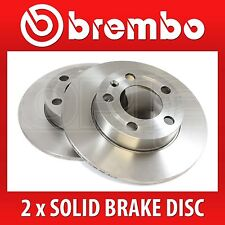 Brembo Easy Check Pair Solid Rear Brake Discs 08.3947.24 - Fits BMW