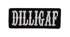 MC DILLIGAF BK BORDER EMBROIDERY BIKER PATCH