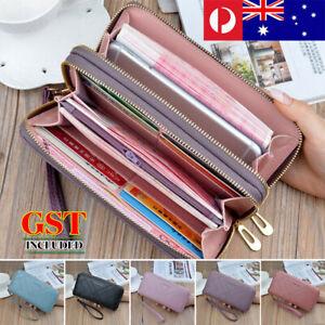 Women Fashion PU Leather Wallet Long Purse Card Phone Holder Case Clutch Handbag
