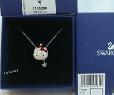 Swarovski Hello Kitty Holiday Santa Necklace Crystal MIB - 1145289
