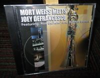 MORT WEISS MEETS JOEY DEFRANGESCO MUSIC CD, 9 GREAT JAZZ TRACKS, NEW SEALED