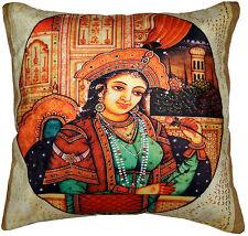 """Decorative 16"""" Velvet Queen Cushion Pillow Cover Sofa Throw Bohemian Home Decor"""