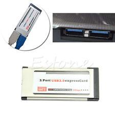 USB 3.0 Express Card ExpressCard 34mm/54mm 2 Port Hidden Adapter For Laptop
