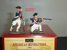 BRITAINS 17961 AMERICAN CONTINENTAL METAL TOY SOLDIER FIGURE FIRING LINE SET 2