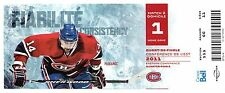 2011 BOSTON BRUINS @ MONTREAL CANADIENS - FULL TICKET STUB - STANLEY CUP