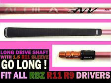 TaylorMade R11s R11R9 RBZ1 Long Drive Aldila Pink NV 55 REGULAR Driver SHAFT+TIP