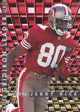 """1995 JERRY RICE - Fleer """"League Leader"""" Football Card - # 4 -San Francisco 49er"""
