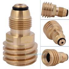 Converts Propane LP TANK POL Service Valve to QCC Outlet Brass Adapter Converter